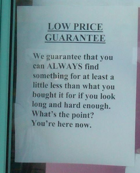 image from How's that for a low price guarantee?