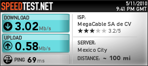 image from My latest speedtest results