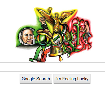 image from Cool - Google's logo today is about Mexico's Independence Bicentenary