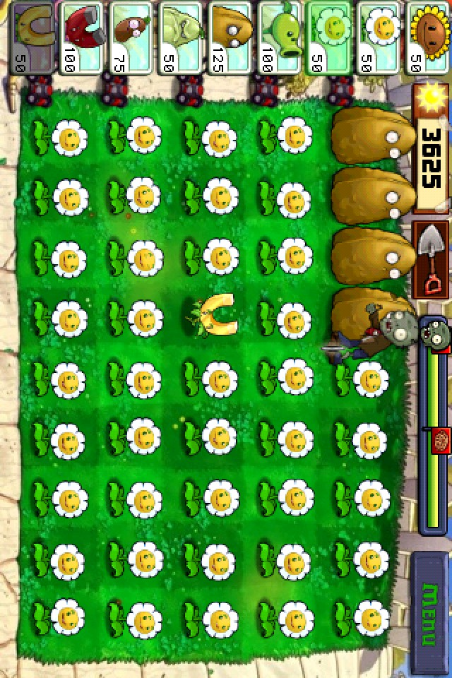 image from My money-making setup in PvZ. Just let it run and it collects coins for the longest time :)