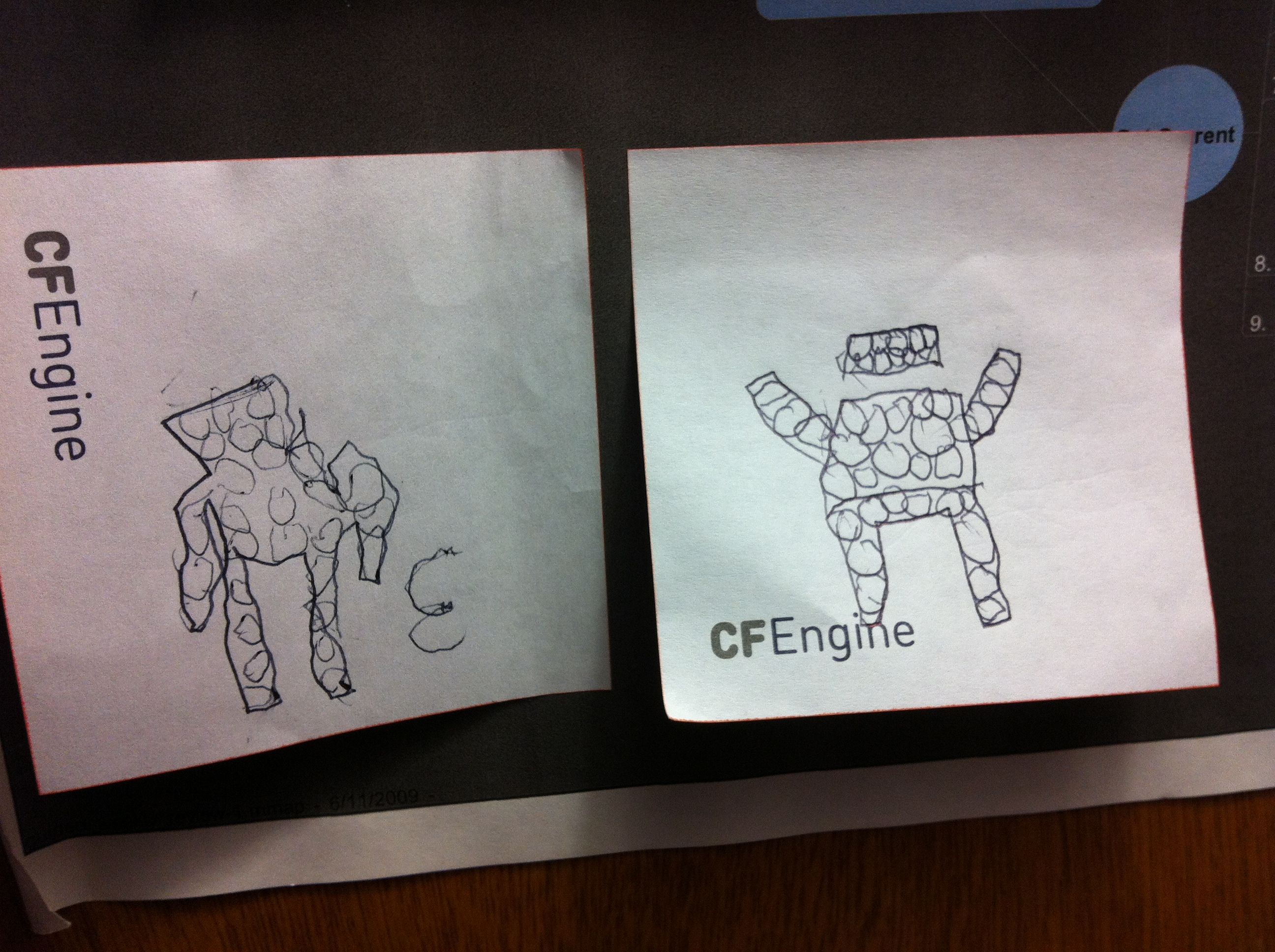 image from The CFEngine agent, as drawn by my 6-year-old daughter :)